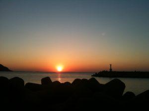 玄界灘夕日 sunset